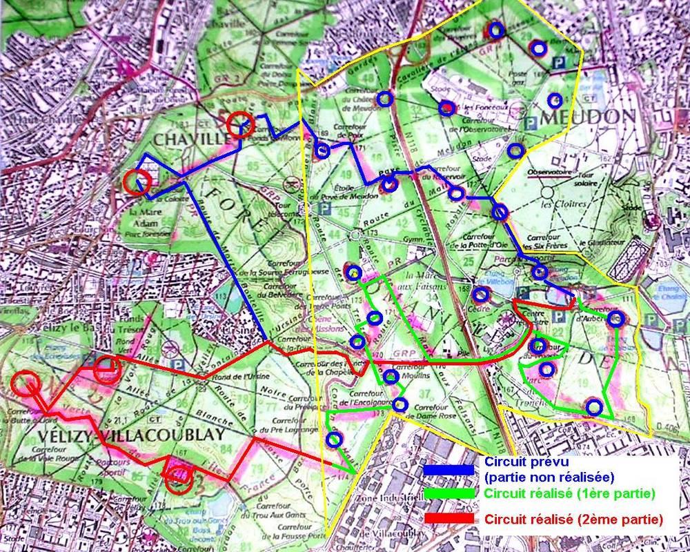 Challenge esprit raid etape 3 for t de meudon 22 novembre 2006 - Foret saint germain en laye plan ...