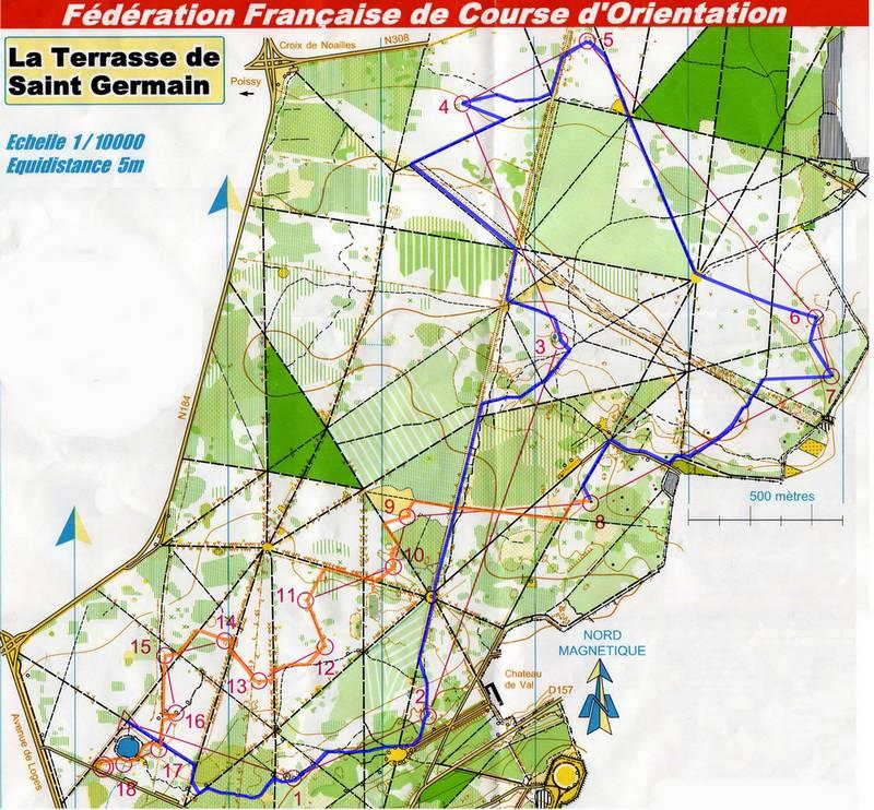 Dpartementale de st germain en laye circuit b 01 fvrier 2009 - Foret saint germain en laye plan ...